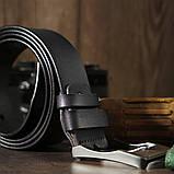 Ремінь чоловічий з затемненій пряжкою механіка Vintage 20317 Чорний, фото 6