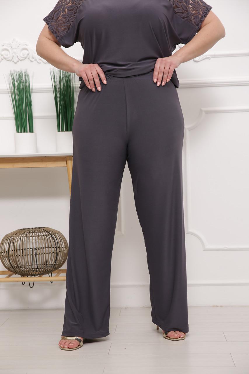 Зручні жіночі штани розміру плюс Casual сірий (52-74)