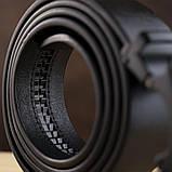 Ремінь чоловічий c силуетом літери G Vintage 20287 Чорний, фото 5