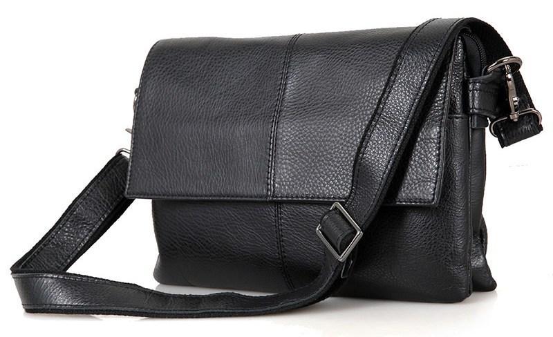 Сумка чоловіча Vintage 14409 Чорна, Чорний
