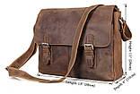 Сумка чоловіча Vintage 14420 Коричневий, Коричневий, фото 2