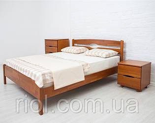 Двоспальне ліжко з бука Ліка Люкс ТМ Олімп