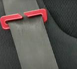 Бустер Sparco  з напрямляючою для ременя безпеки 2+3 (15-36кг) чорно-синій SP F100K-BK-BL, фото 3