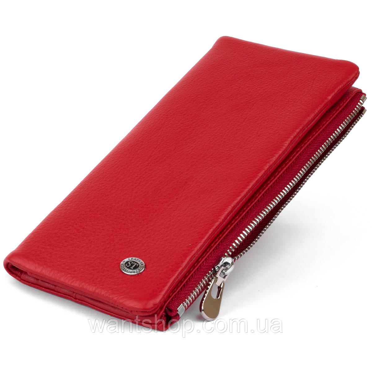 Вертикальный кошелек на кнопке женский ST Leather 19772 Красный
