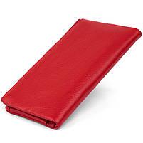 Вертикальный кошелек на кнопке женский ST Leather 19772 Красный, фото 2