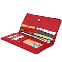 Вертикальный кошелек на кнопке женский ST Leather 19772 Красный, фото 3