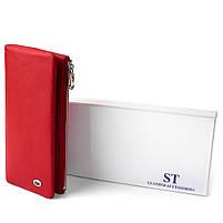 Вертикальный кошелек на кнопке женский ST Leather 19772 Красный, фото 5