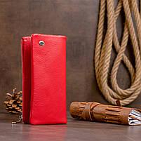 Вертикальный кошелек на кнопке женский ST Leather 19772 Красный, фото 6