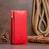 Вертикальный кошелек на кнопке женский ST Leather 19772 Красный, фото 7
