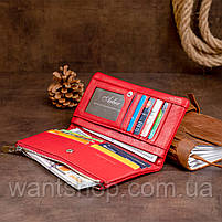 Вертикальный кошелек на кнопке женский ST Leather 19772 Красный, фото 8