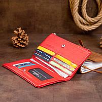 Вертикальный кошелек на кнопке женский ST Leather 19772 Красный, фото 9