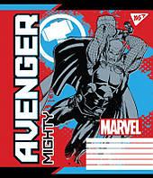 Тетрадь ученическая А5/12 косая линия YES Avengers. Legends