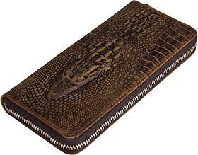 Чоловічий клатч Vintage 14462 шкіра під крокодила Коричневий