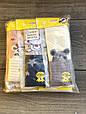 Колготи дитячі бавовна KBS з малюнком мишки прикрашені люрексом для дівчаток 5 років 6 шт в уп мікс з 3х кол, фото 7