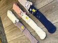 Колготи дитячі бавовна KBS з малюнком мишки прикрашені люрексом для дівчаток 5 років 6 шт в уп мікс з 3х кол, фото 4