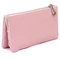 Місткий клатч на два відділення жіночий ST Leather 14450 Рожевий, фото 2