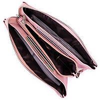 Місткий клатч на два відділення жіночий ST Leather 14450 Рожевий, фото 3