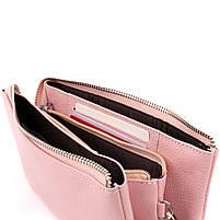 Місткий клатч на два відділення жіночий ST Leather 14450 Рожевий, фото 4
