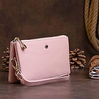 Місткий клатч на два відділення жіночий ST Leather 14450 Рожевий, фото 6