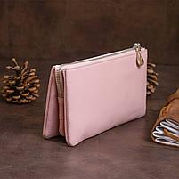 Місткий клатч на два відділення жіночий ST Leather 14450 Рожевий, фото 7