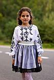 Строгий вишитий костюм для дівчинки, фото 5