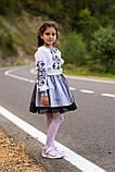 Строгий вишитий костюм для дівчинки, фото 3