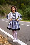 Строгий вишитий костюм для дівчинки, фото 6