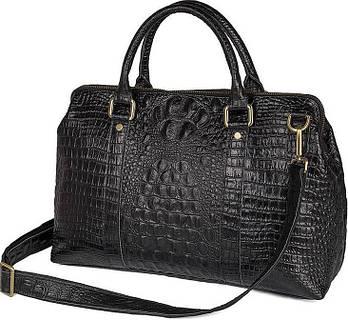Сумка Vintage 14540 з натуральної шкіри Чорна, Чорний