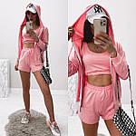 Женский спортивный костюм - тройка, двунить, р-р 42-44; 44-46 (пудровый), фото 3