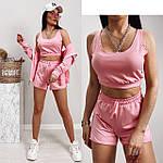 Женский спортивный костюм - тройка, двунить, р-р 42-44; 44-46 (пудровый), фото 2