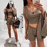 Женский спортивный костюм - тройка, двунить, р-р 42-44; 44-46 (шоколад), фото 3