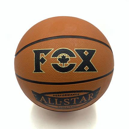 Мяч баскетбольный Newt Fox ball №7 коричневый, фото 2