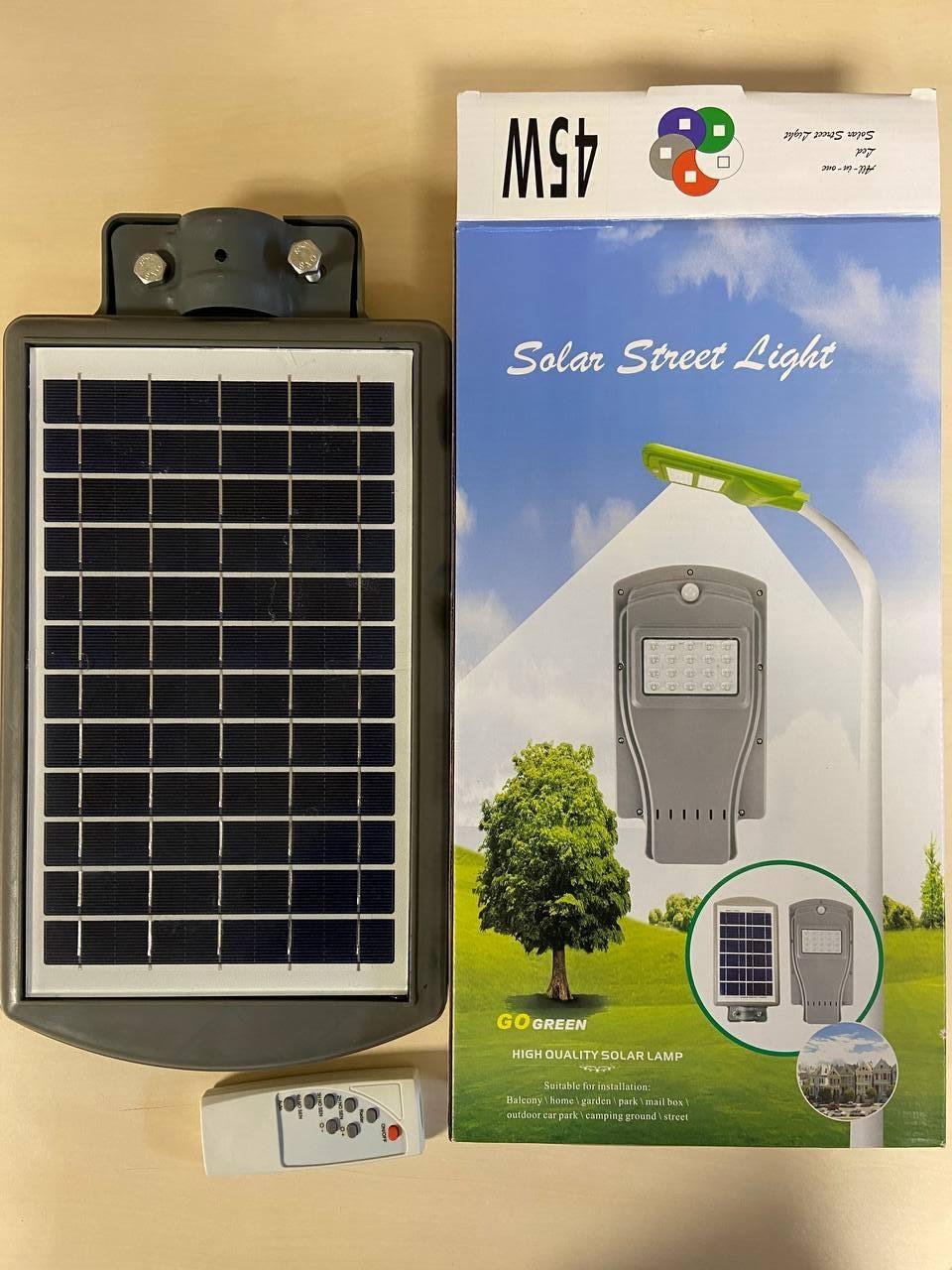 Фонарь уличный LED Solar Street Light 45W UKC 7141 10000mAh с пультом на солнечной батарее