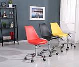 Крісло на колесах Астер червоний екокожа (безкоштовна доставка), фото 6