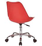 Крісло на колесах Астер червоний екокожа (безкоштовна доставка), фото 3