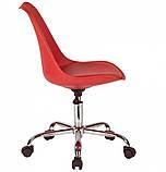 Крісло на колесах Астер червоний екокожа (безкоштовна доставка), фото 4