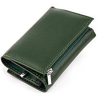 Горизонтальне портмоне зі шкіри унісекс на магніті ST Leather 19662 Зелене, фото 2