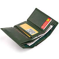 Горизонтальне портмоне зі шкіри унісекс на магніті ST Leather 19662 Зелене, фото 3