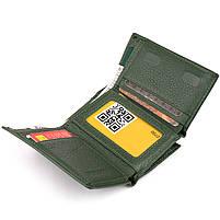 Горизонтальне портмоне зі шкіри унісекс на магніті ST Leather 19662 Зелене, фото 5