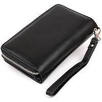 Гаманець зі шкіри на засувці ST Leather 11239 Чорний, фото 2