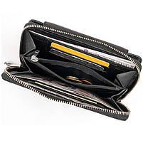 Гаманець зі шкіри на засувці ST Leather 11239 Чорний, фото 4