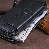 Гаманець зі шкіри на засувці ST Leather 11239 Чорний, фото 8