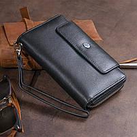 Гаманець зі шкіри на засувці ST Leather 11239 Чорний, фото 9