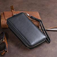 Гаманець зі шкіри на засувці ST Leather 11239 Чорний, фото 10