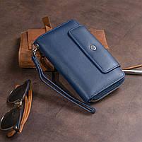 Кошелек из кожи на защелке ST Leather 19311 Темно-синий, фото 9