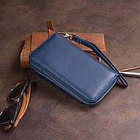 Кошелек из кожи на защелке ST Leather 19311 Темно-синий, фото 10