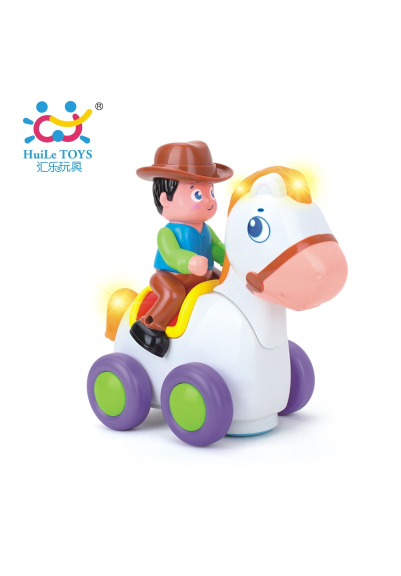Игрушка Huile Toys Ковбой на веселой лошади 838А