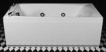Прямоугольная гидро-аэромассажная ванна Rialto Lido Elite со смесителем, 1700х755х575 мм