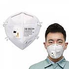 Захисна маска, респіратор 3М KN95 9502V+ FFP2 багаторазовий, з клапаном, фото 2