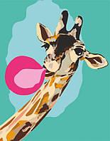 """Набор-стандарт, акриловая живопись по номерам, """"Cool giraffe"""", ROSA START~#~Набір-стандарт, техніка акриловий"""